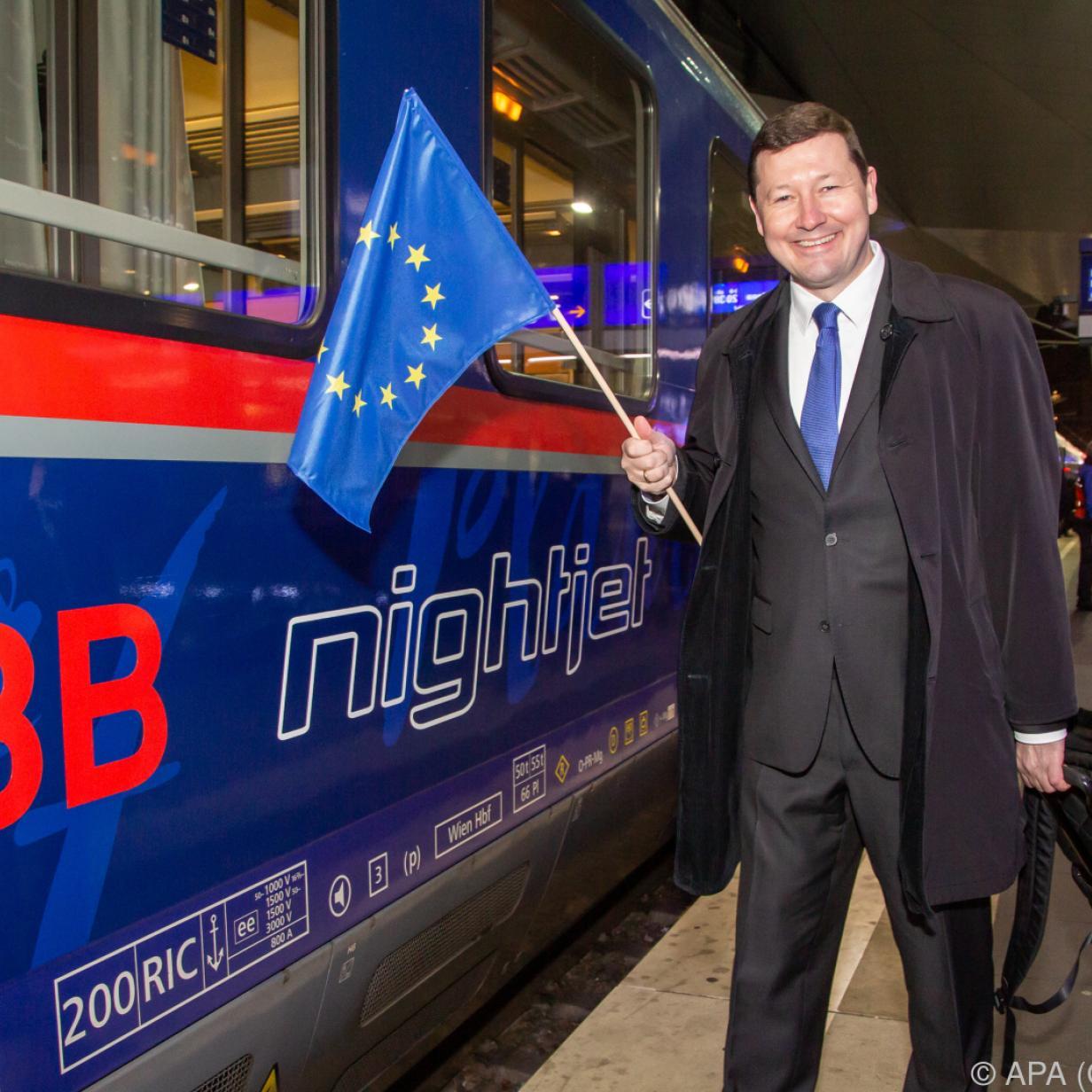 Der erste ÖBB-Nachtzug aus Wien ist in Brüssel eingetroffen