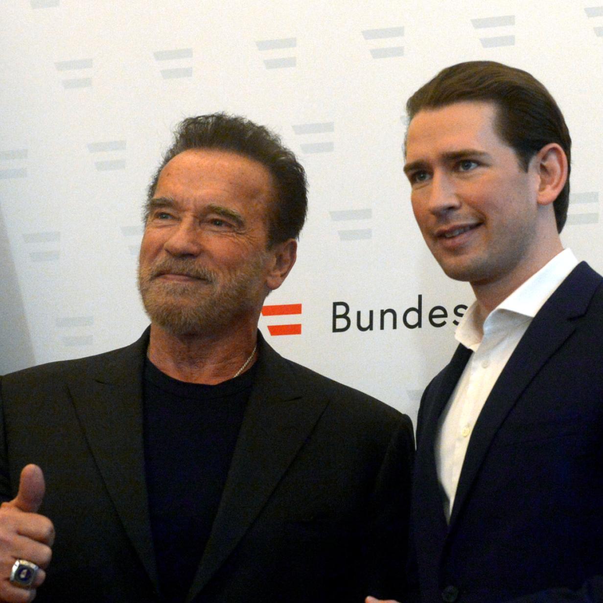 Klimaschutzkonferenz: Schwarzenegger trifft Kurz und Van der Bellen