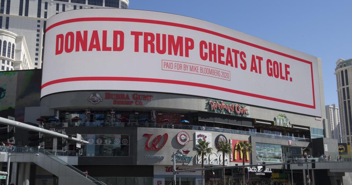 Bloomberg verhöhnt Trump auf Riesen-Plakaten in Las Vegas