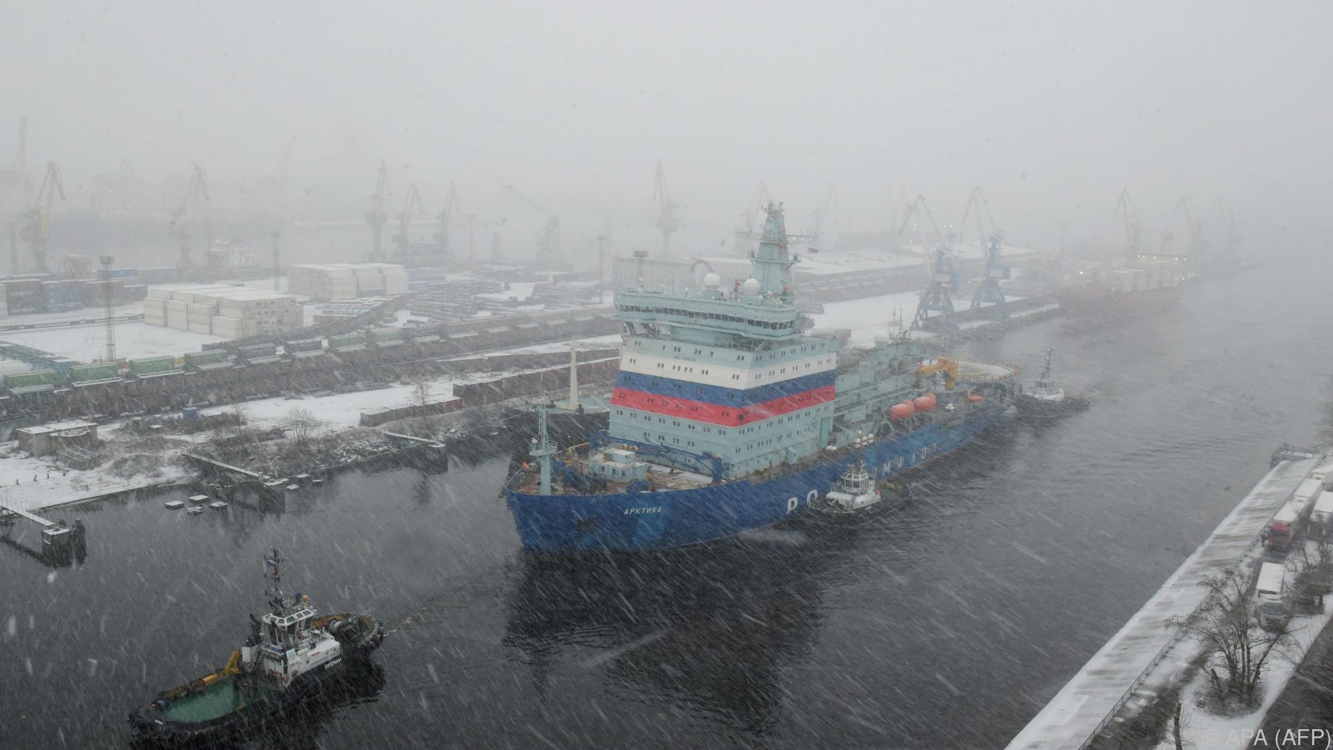 Russischer atombetriebener Eisbrecher beendet Test in Arktis