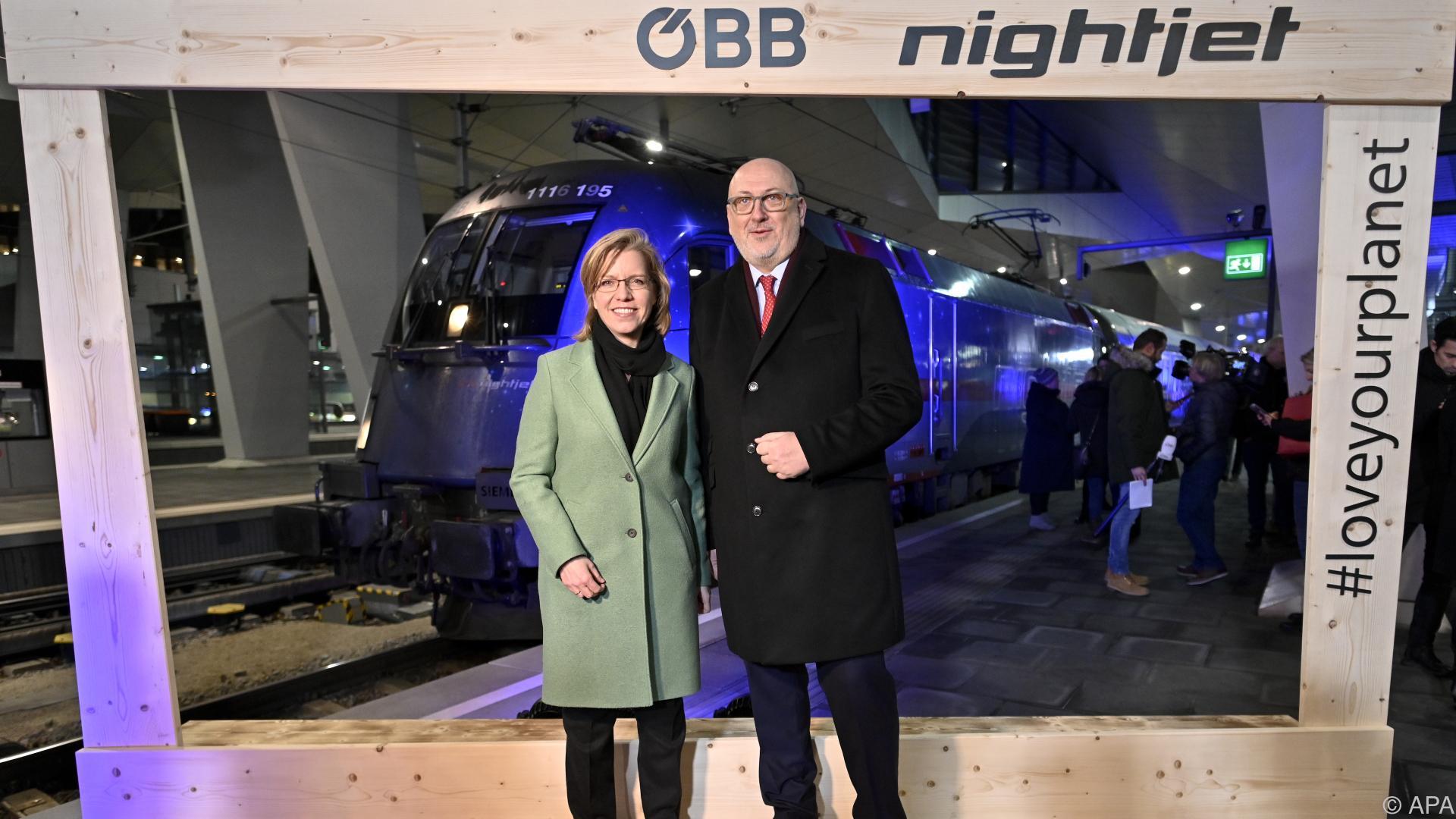 Brüssel-Premiere des ÖBB-Nachtzugs mit EU-Abgeordneten
