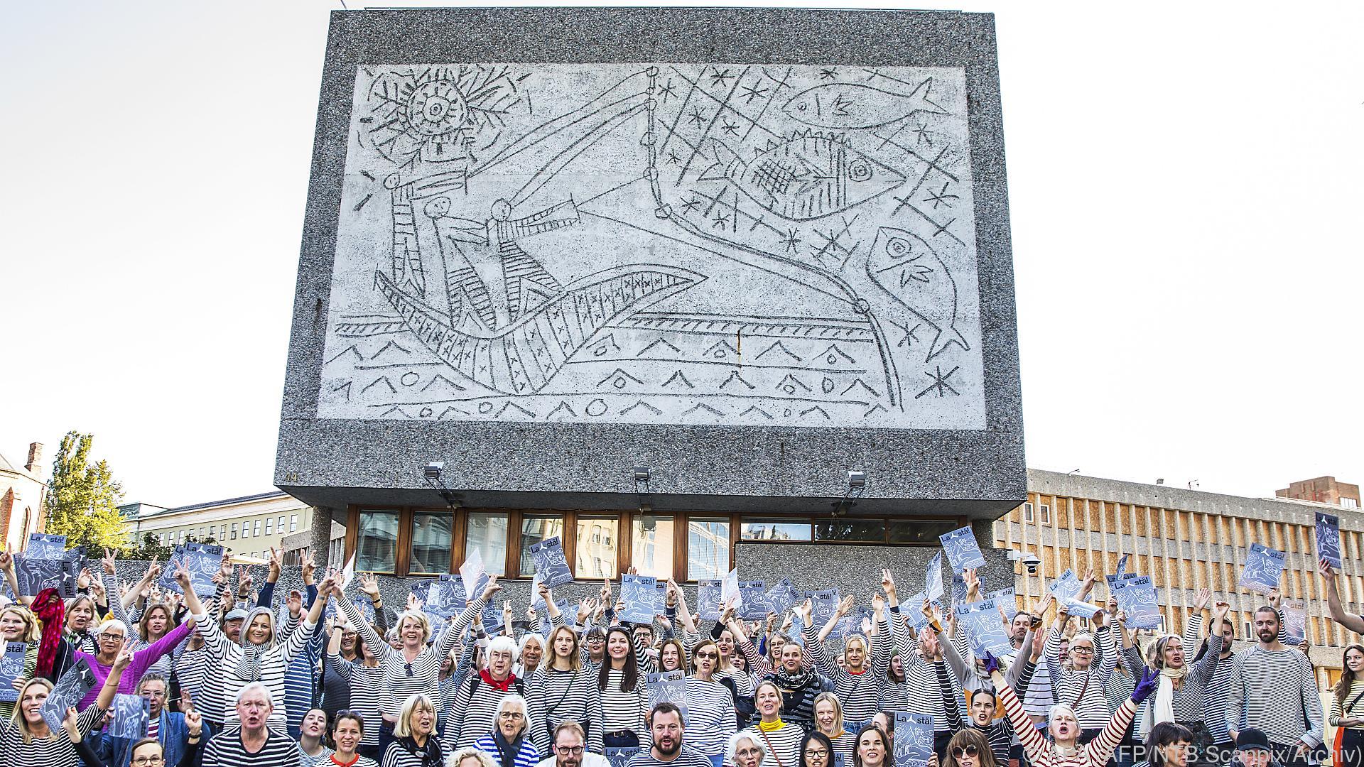 Abriss von Gebäude mit Picasso-Werken in Norwegen angeordnet