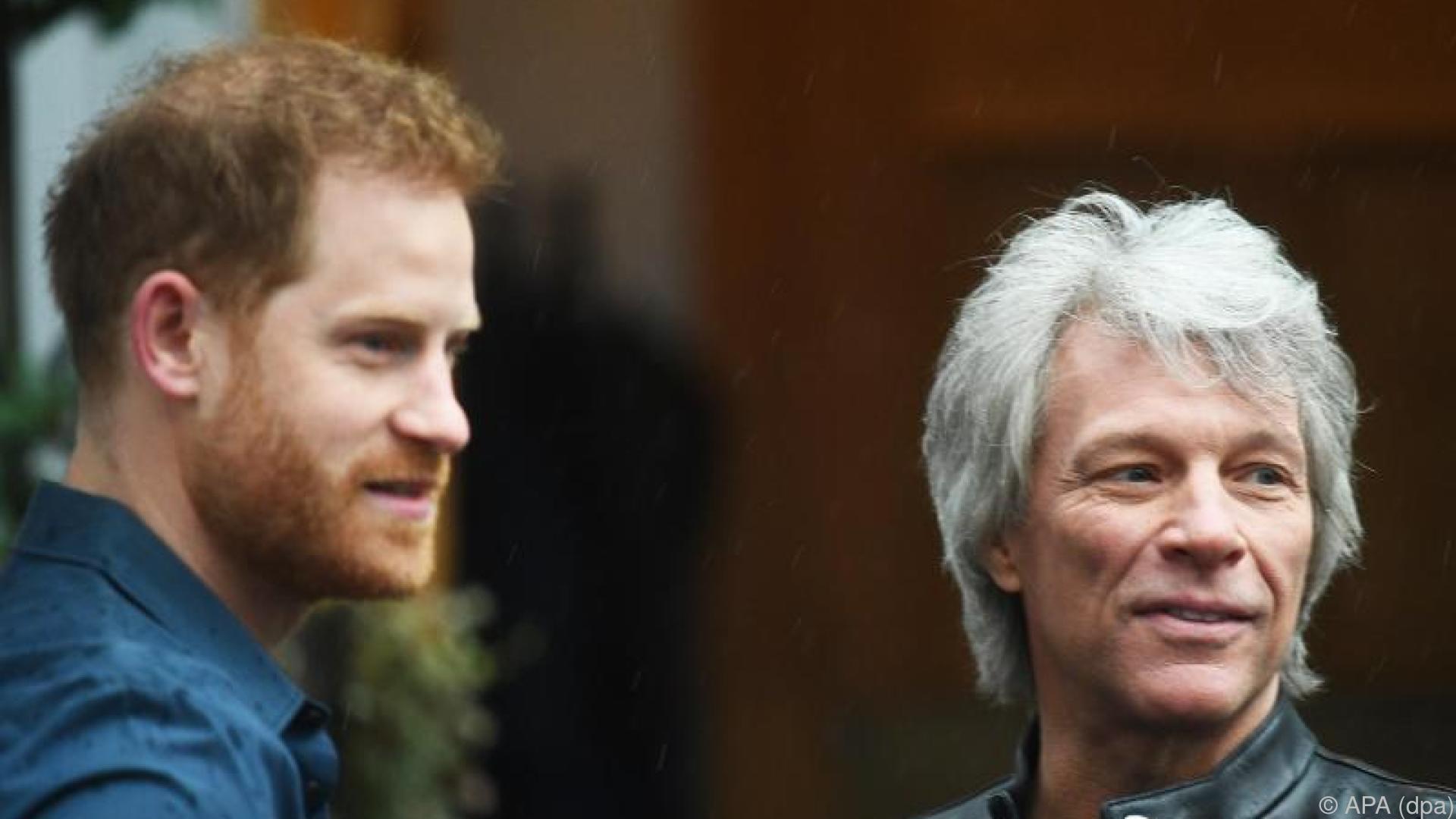 Prinz Harry und Jon Bon Jovi in den Abbey-Road-Studios