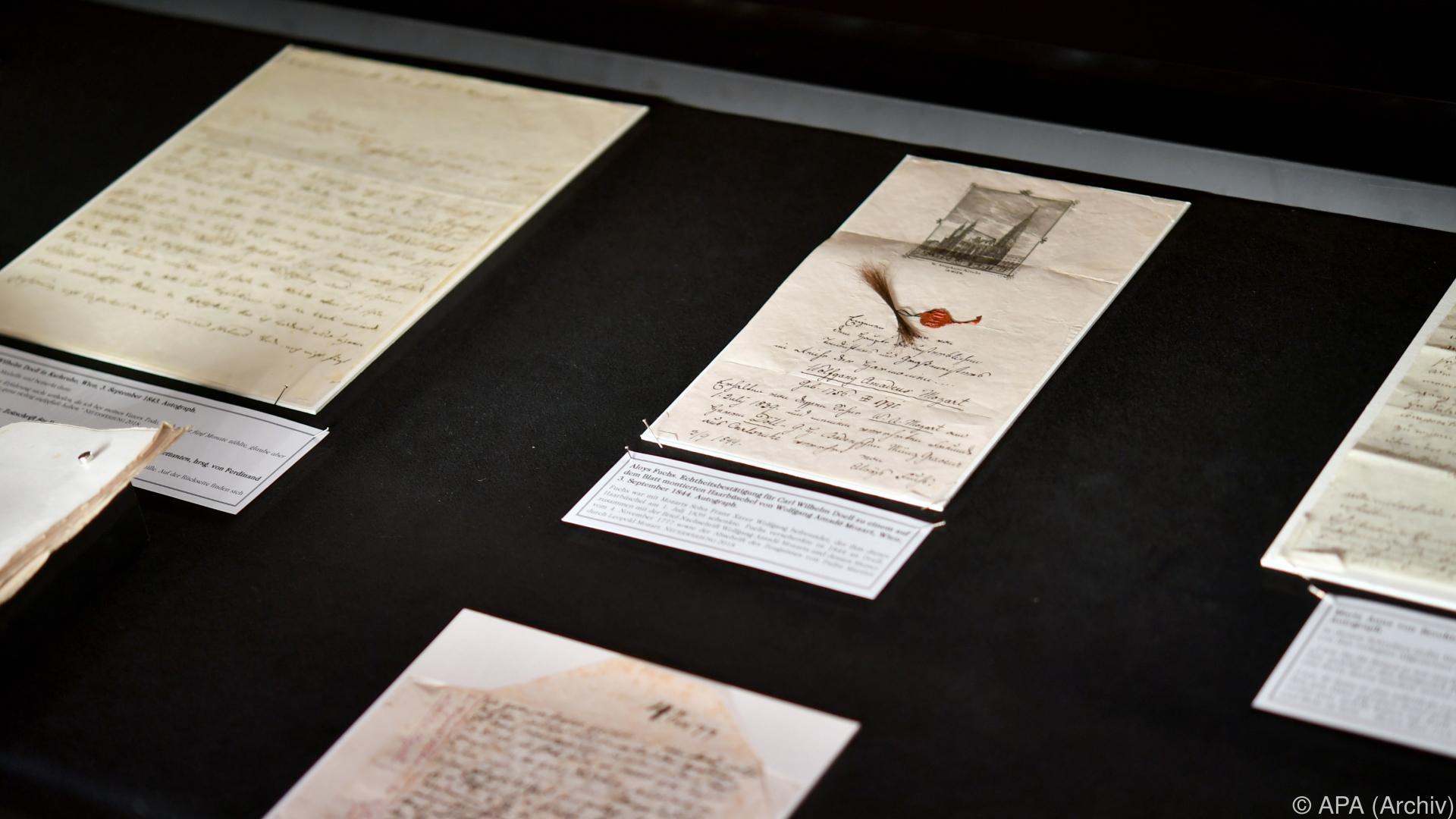 Stiftung Mozarteum erwarb Liebesbrief von Mozart