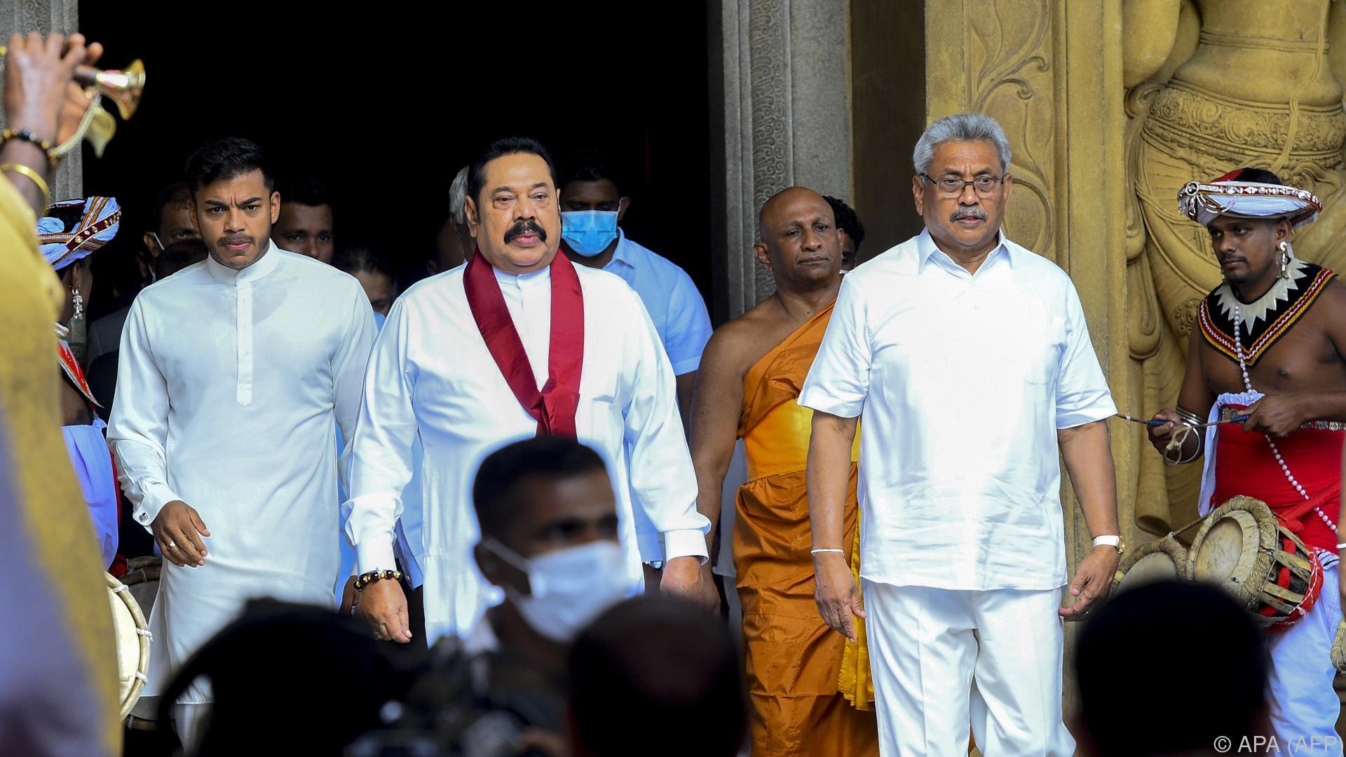 Präsidentenbruder neuer Ministerpräsident in Sri Lanka