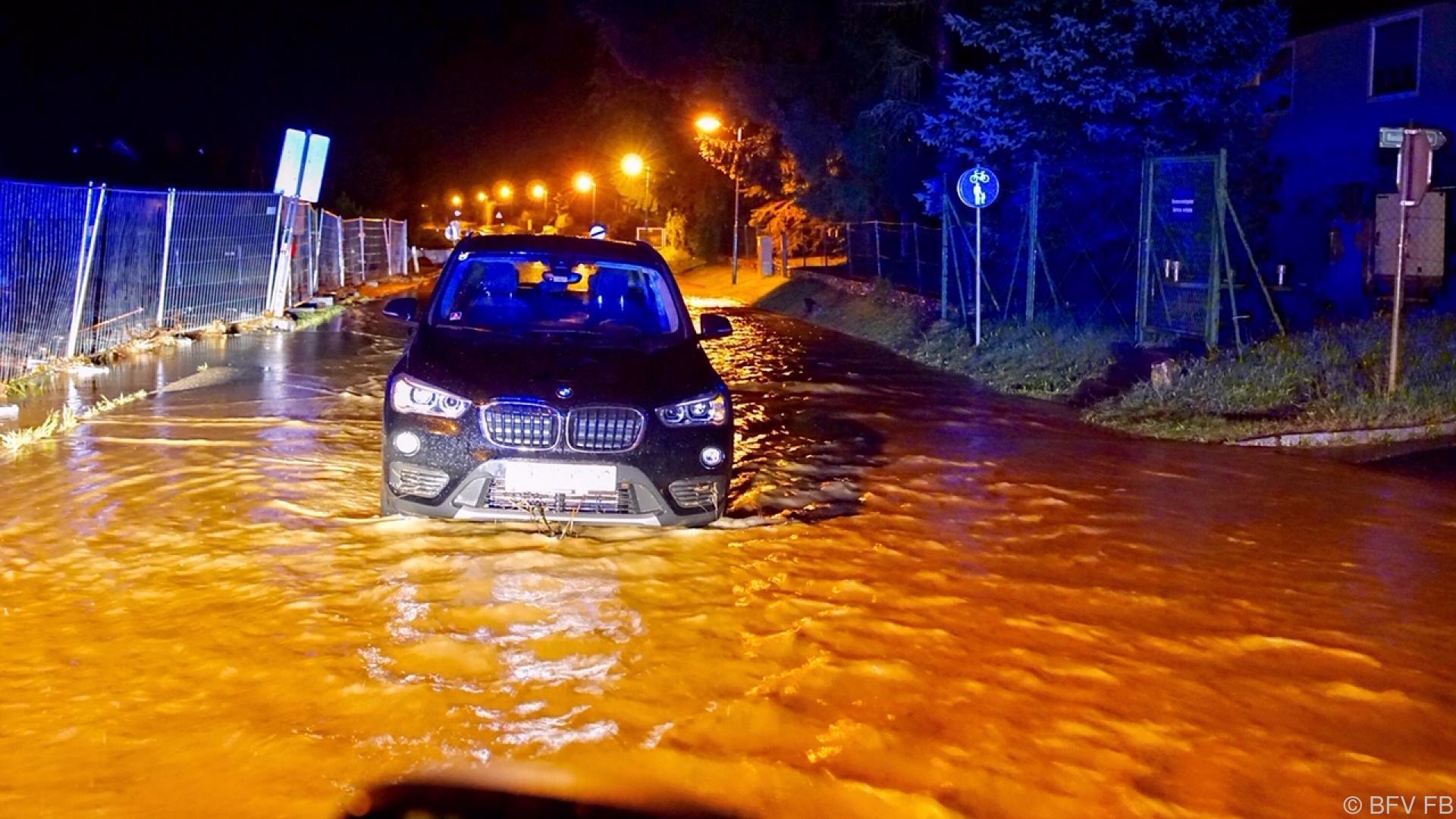 Überflutungen nach Starkregen in der Steiermark und NÖ